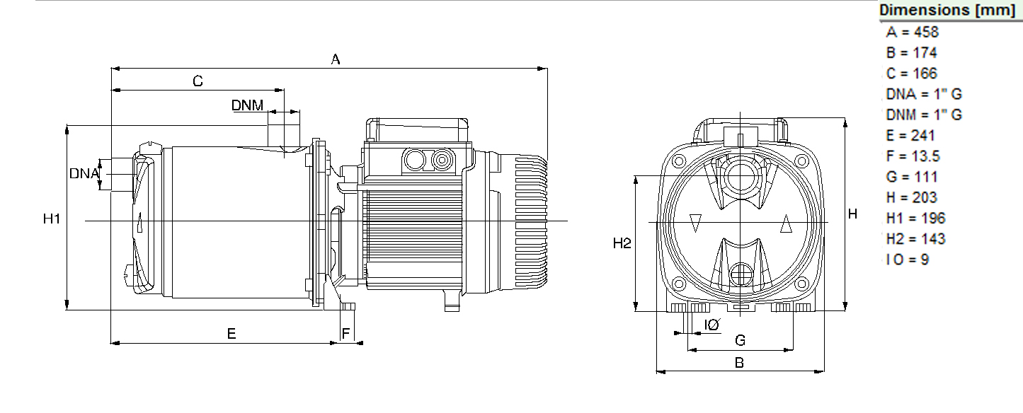 dab euroinox 50  50t self-priming multistage centrifugal pump
